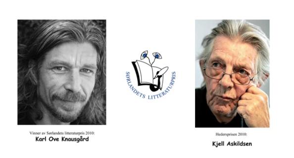 Karl Ove Knausgård vant Sørlandets litteraturpris i 2010. Kjell Askildsen mottok hedersprisen som ble delt ut i 2010.