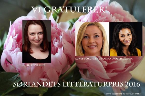 Vi gratulerer vinnerne av Sørlandets litteraturpris 2016